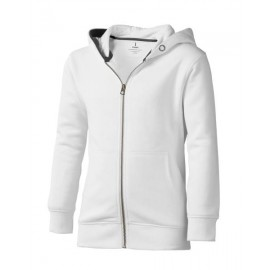Mikina ELEVATE ARORA HOODED FULL ZIP KIDS SWEATER bílá 128